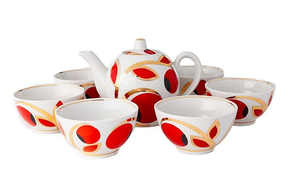 "Tea set with bowls ""Apples"""