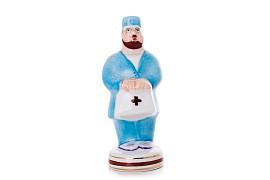 """Скульптура """"Врач"""" в синем костюме"""