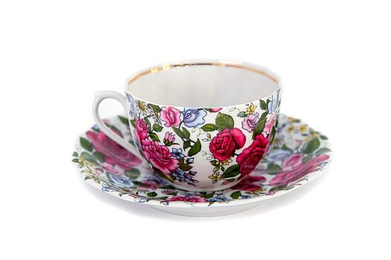 """Чайная пара """"Роза с ромашкой"""""""