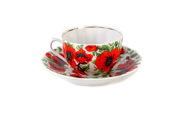 "Tea pair  ""Poppies"""