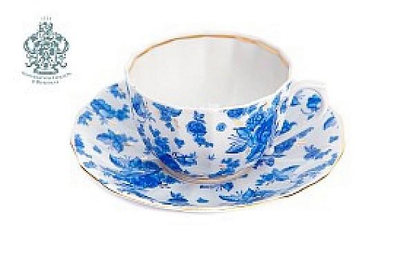 """Чайная пара """"Астра голубая"""""""