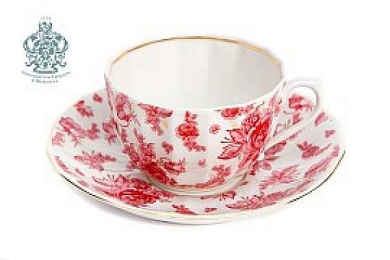 """Чайная пара """"Астра розовая"""""""