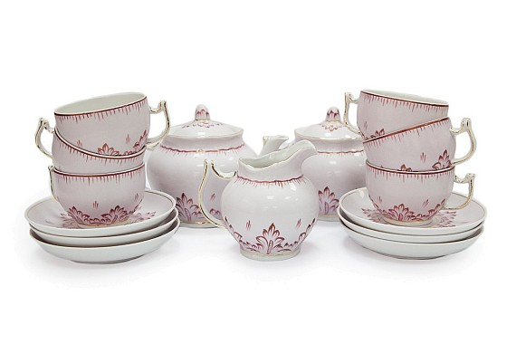 Tea set for 6 people with 14 items