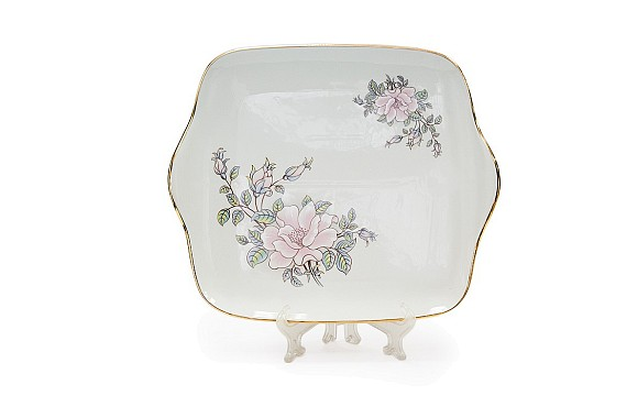 The  square dish, the decor of Contessa (decal)