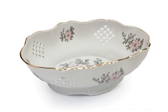 Sugar bowl, decorative form, decor Contessa (decal)
