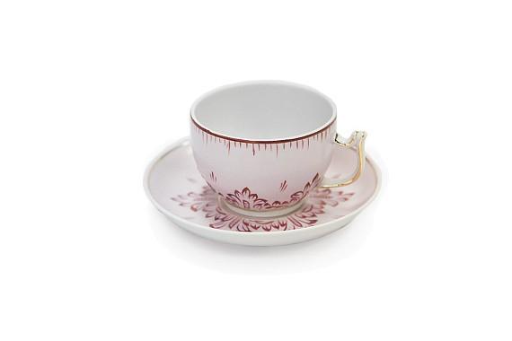 Чайная пара ф Севрская Рубиновая, обьем 200 мл.