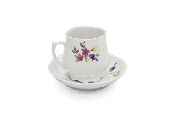 Кофейная пара, форма Сувенирная, декор (деколь) Микс