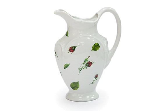 Jug, fontanel shape, decor Sliding buds (decal)