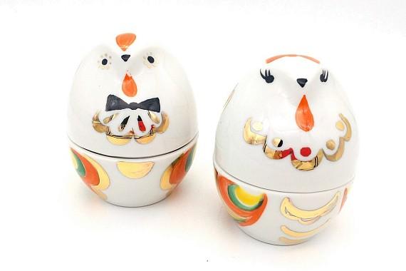 Подставка под яйцо цыпленок(девочка)и (мальчик)