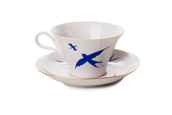 "Tea pair ""The breath of summer. Swallows""."