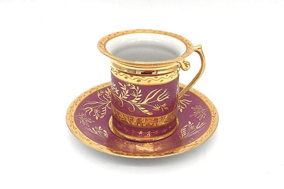 Чашка кофейная с блюдцем ф. Гарднеровская Императорский